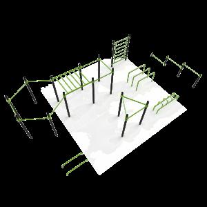 Stalen park voor calisthenics en freestyle oefeningen