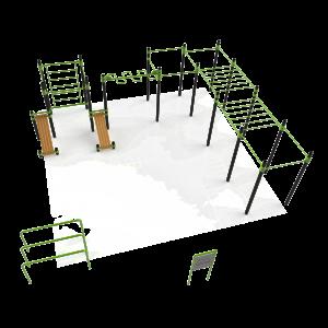 Calisthenics park voor kracht, freestyle, bootcamp en crossfit