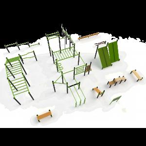 Mega groot calisthenics park dat ook perfect geschikt is voor bootcamp oefeningen