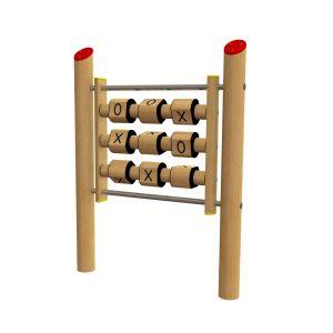 Robinia spelpaneel waarop samen boter kaas en eieren gespeeld kan worden