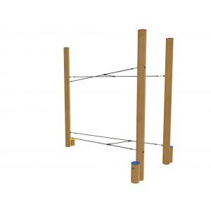 Robinia evenwichtstoestel met gekruisde boven- en ondertouw
