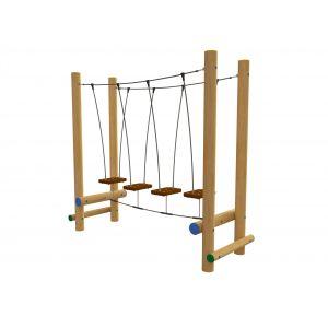 Robinia evenwichtstoestel met hangende plateaus.