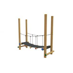 Robinia evenwichtstoestel met brug van rubber