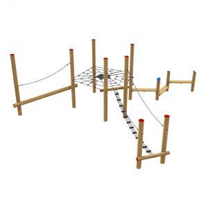 Robinia klimtoestel met verschillende speelonderdelen
