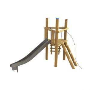 Robinia klimtoren met een glijbaan