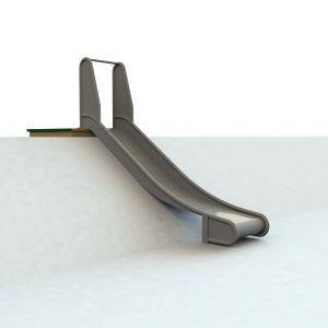 WaxedWood bordes met RVS glijbaan voor heuvel van 100 centimeter hoog