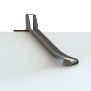 WaxedWood bordes met RVS glijbaan voor heuvel van 150 centimeter hoog