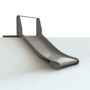 WaxedWood bordes met RVS glijbaan van een meter breed voor een heuvel van 100 centimeter hoog