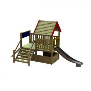 WaxedWood speelhuis met glijbaan