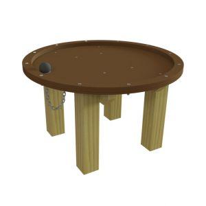 WaxedWood watertafel met gat en stop voor een waterspel
