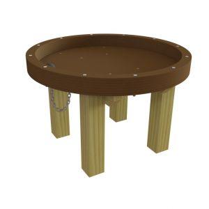 Waxedwood watertafel met hoge rand en een gat