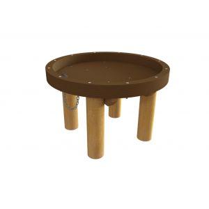Robinia watertafel met een hoge rand en een gat