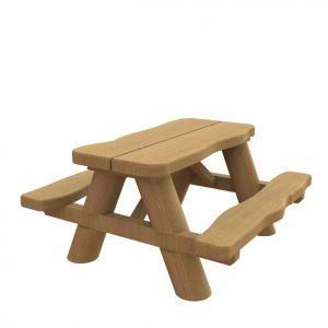 Robuuste picknicktafel van eikenhout