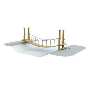 Robinia hangbrug voor een oversteek
