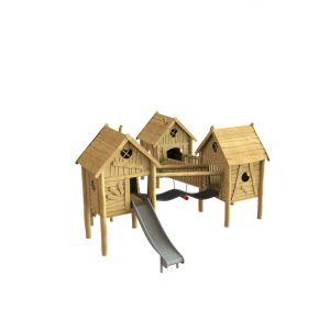Robinia gecombineerde speelhuisjes