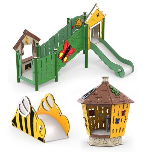 Kunststof speelset voor kinderdagverblijf
