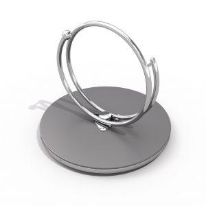 RVS draaimolen met twee cirkelvormige handvaten