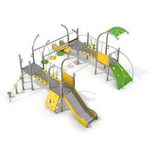 RVS speelcombinatie voor speeltuinen