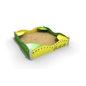 RVS zandbakrand met zitplaatsen