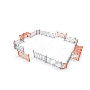 Stalen voetbalveldje