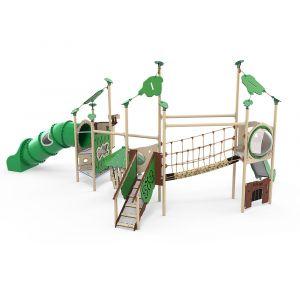 Kunststof speelcombinatie met drie speeltorens
