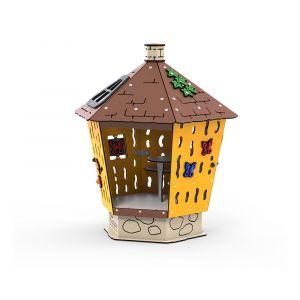 Kunststof speelhuisje voor op een speelplaats