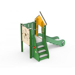 Kunststof speeltoren met glijbaan voor kleine kinderen