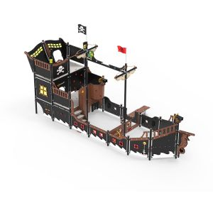 Kunststof speelschip met veel speelonderdelen