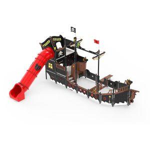 Kunststof mega piratenschip met diverse speelonderdelen