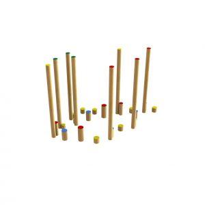 Loopparcours van Robinia voor speeltuinen
